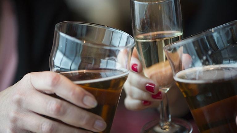 Alkohol, öl, champagne