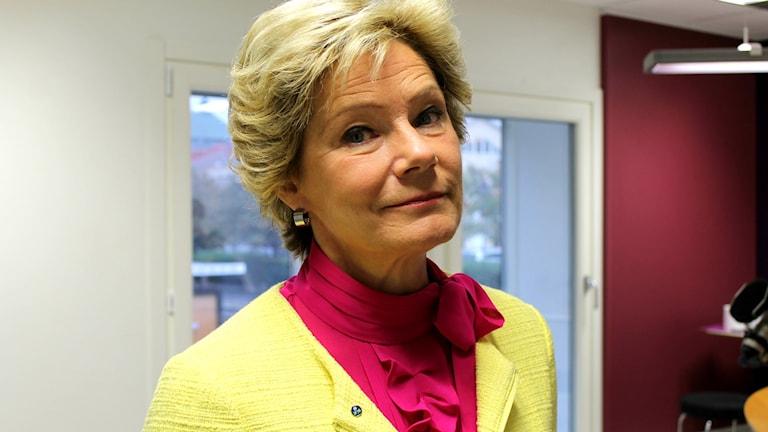 Barn och äldreminister Maria Larsson. Foto: Kajsa Hallberg/Sveriges Radio