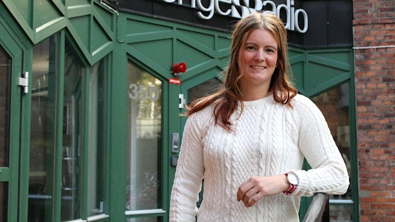 Sara Jakobsson spelar i HV71 Dam. Foto: Elin Ericsson/Sveriges Radio