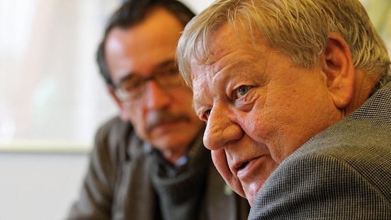 Peter Bruhn och Håkan Jansson. Foto: David Westh/Sveriges Radio