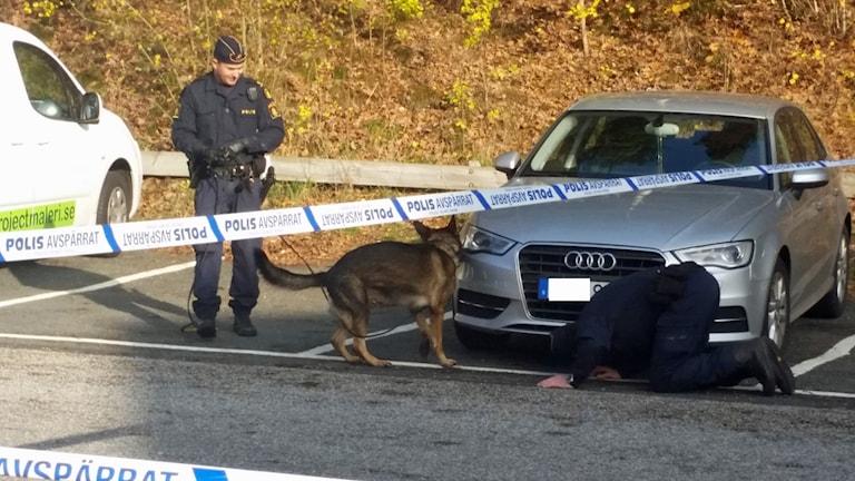 Mordplatsen Norrahammar. Foto: Therese Edin/Sveriges Radio