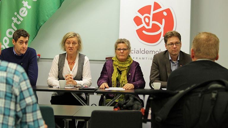 Erik Hugander, Carina Ödebrink, Annica Nordqvist och Marcus Eskdahl. Foto: David Westh/Sveriges Radio