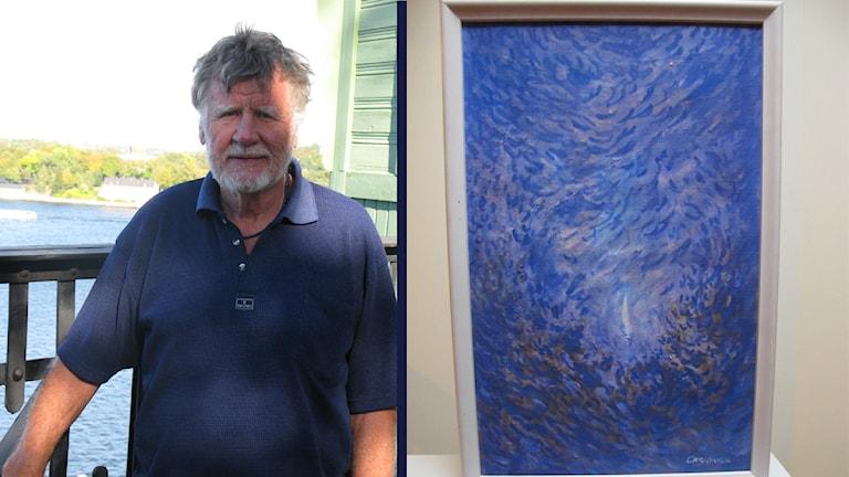 Carl Anton med konstverk