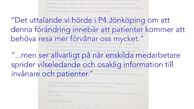 Landstingspolitikernas brev.
