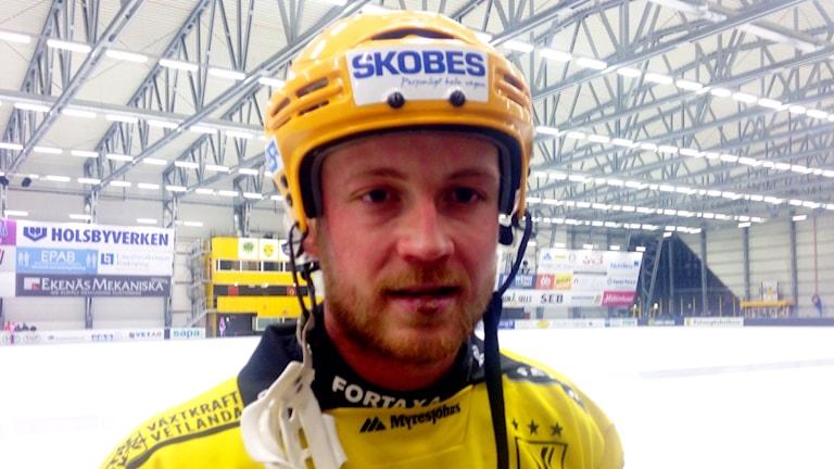 Vetlandas lagkapten Johan Löfstedt. Foto: Håkan Eng/Sveriges Radio.