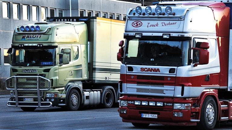 Lastbilar. Arkivbild, foto: Hasse Holmberg/TT