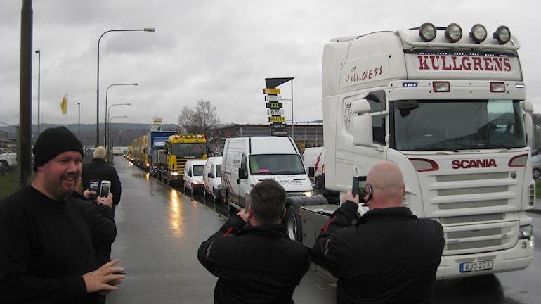 Uppmärksamhet kring lastbilsprotest