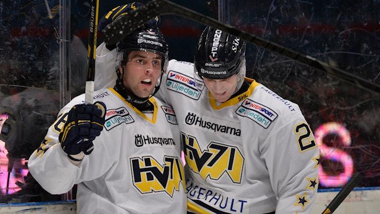 Riley Holzapfel och Erik Christensen. Arkivbild, foto: Anders Wiklund/TT