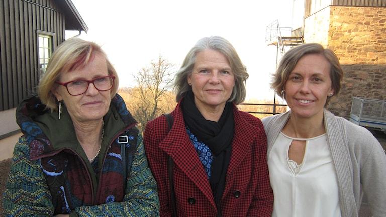 Betty Svensson, Lilian Elmqvist och Sofia Lager Milton