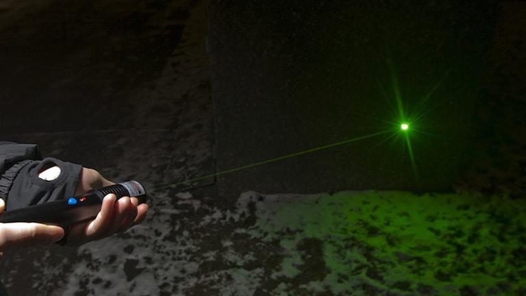 Grön laser. Foto: TT/Scanpix Norge