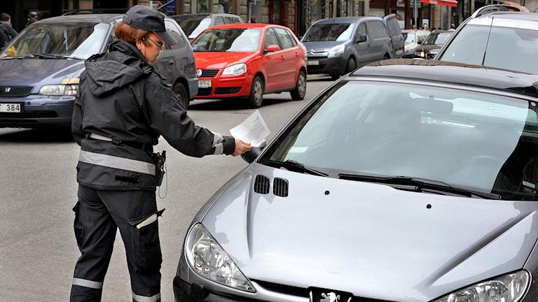 Parkeringsvakt. Arkivbild, foto:  Tomas Oneborg / SvD /TT