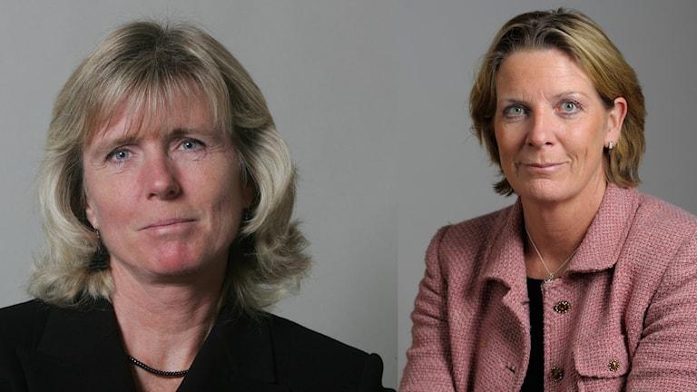 Helene Petersson och Helena Bouveng. Foton: Jonas Ekströmer/TT samt Henrik Montgomery/TT