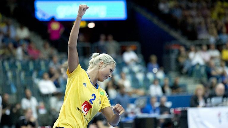 Ulrika Ågren under EM-kval matchen mellan Sverige och Schweiz i juni. Foto: Björn Larsson Rosvall/TT.
