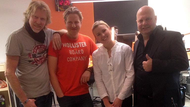 Hasse Pettersson med gästerna Marcos Ubeda, Elisa Lindström och Magnus Johansson