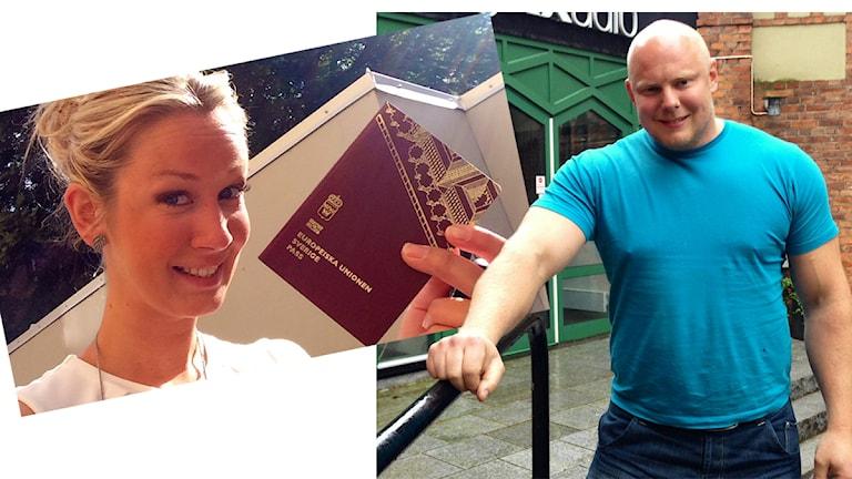 Ellen Andersson och Sebastian Davidsson, Bonde söker fru. Foton: privat och Sveriges Radio