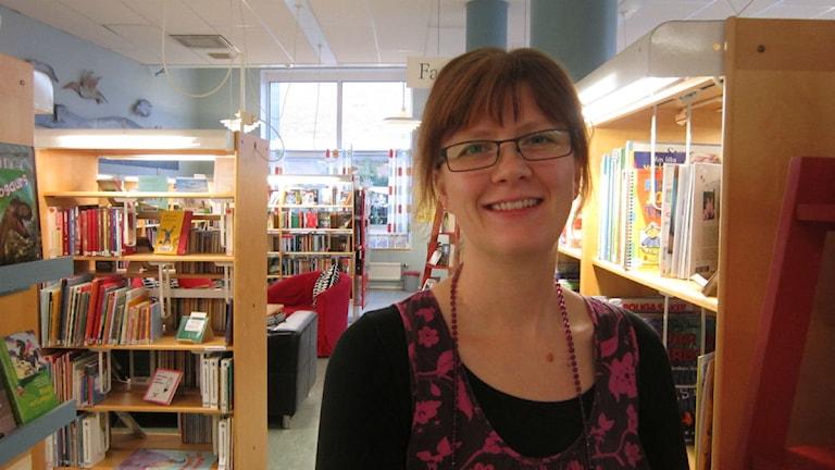 Ann-Louise Jonsson, barnbibliotekarie i Vetlanda