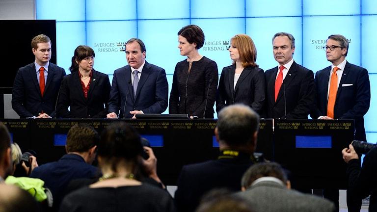 Presskonferens om inställt extraval