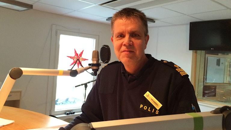 Mats Rosenqvist, polis i Jönköping. Foto: Maria Franzén/ Sveriges Radio