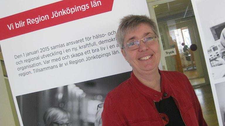 Agneta Jansmyr, landstingsdirektör. Foto: Peter Jernberg/ Sveriges Radio