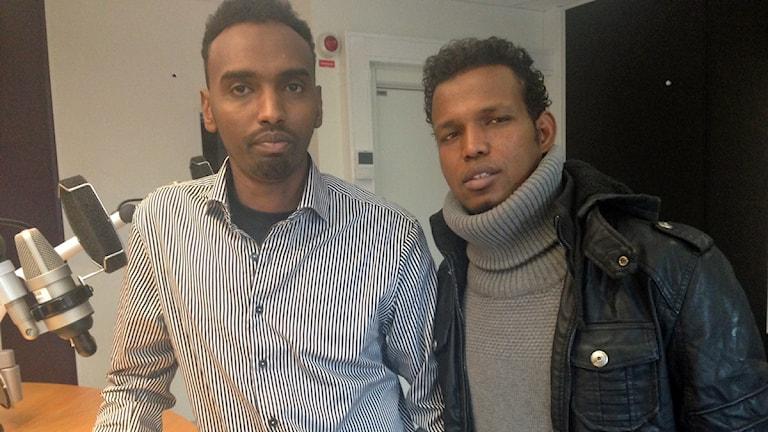 Omar Ahmed och Shukri Mohamed. Foto: Pernilla Arvidsson/Sveriges Radio