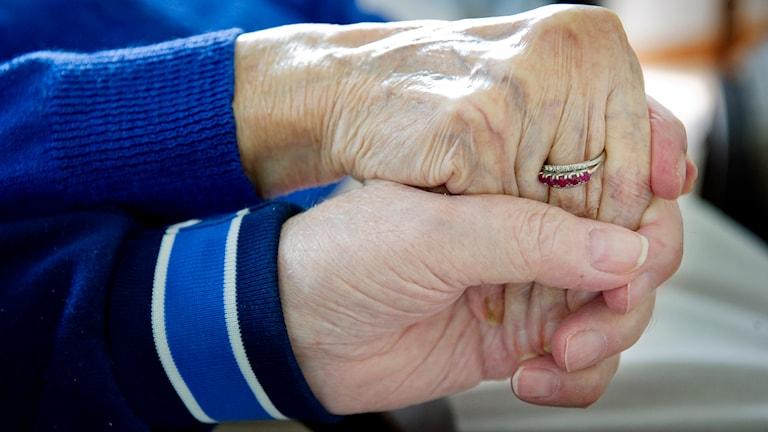 Äldre par. Foto: Jessica Gow/TT