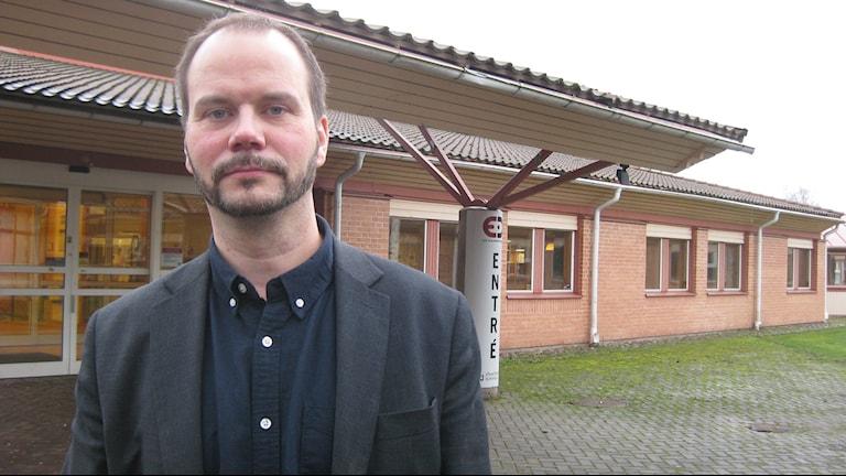 Lars Wernborg, gymnasiechef Erik Dahlbergsgymnasiet. Foto: Dan Segerson/Sveriges Radio.