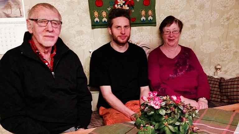 Karl-Axel Bragd, Niklas Svensson och Barbro Bragd