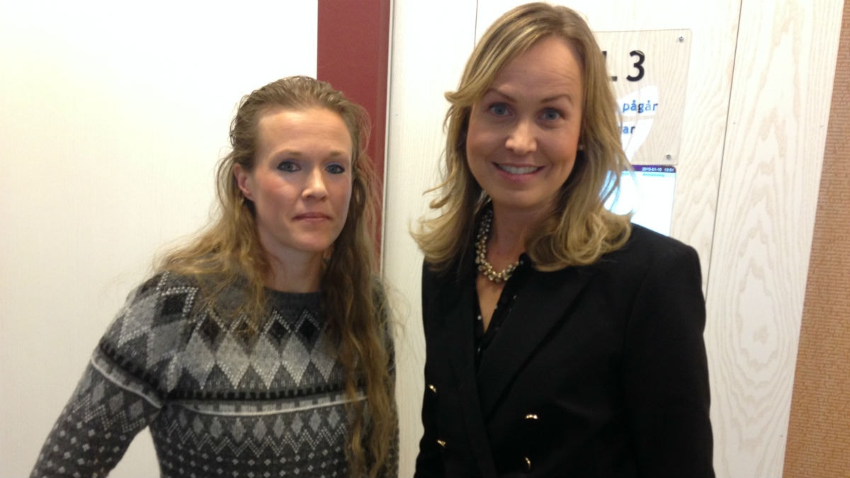 Ellinor Grimmark och Ruth Nordström. Foto: Kjell Ahlkvist/Sveriges Radio.