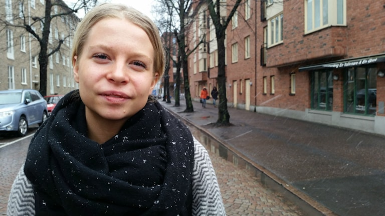 Sara Hallgren. Foto: Elin Ericsson/Sveriges Radio.