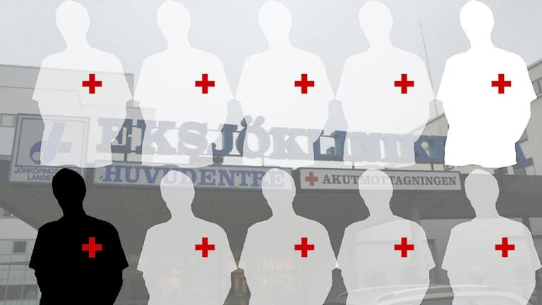 Var tionde sjuksköterska saknas. Grafik: David Westh/Sveriges Radio