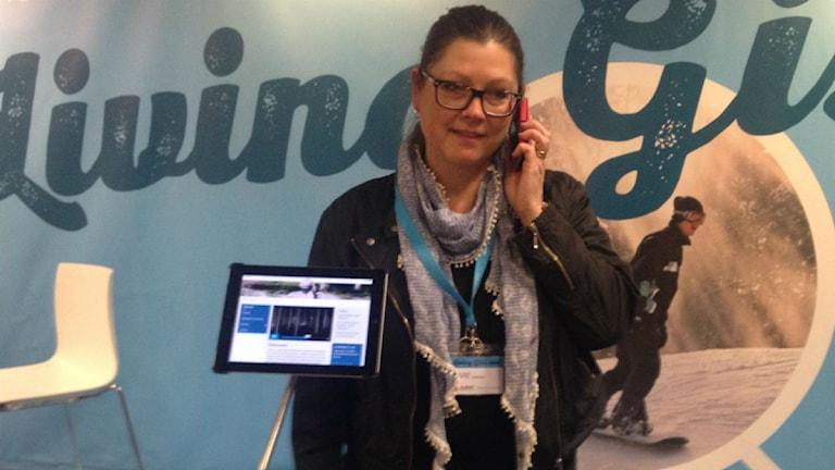 Marie Johansson på plats i Utrecht. Foto: Privat