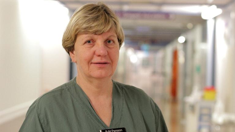 Britt-Marie Persson, biträdande chef akutmottagningen på Länssjukhuset Ryhov. Foto: Jonatan Nilsson/Sveriges Radio