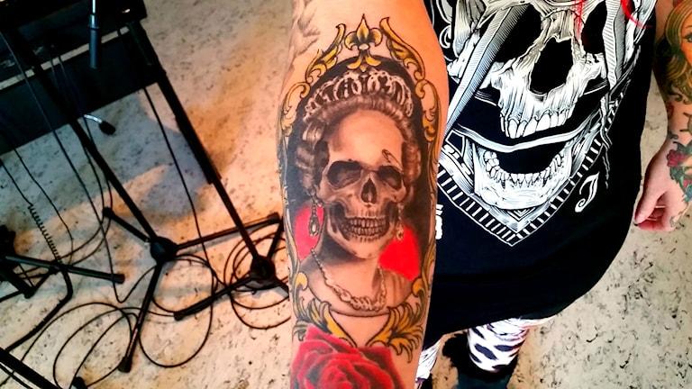 Tatuering. Foto: Therese Edin/Sveriges Radio.