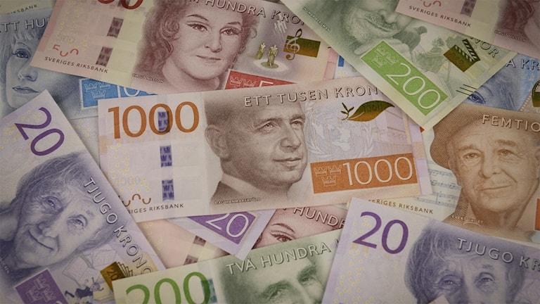 Nya sedlar. Pressbild, Riksbanken