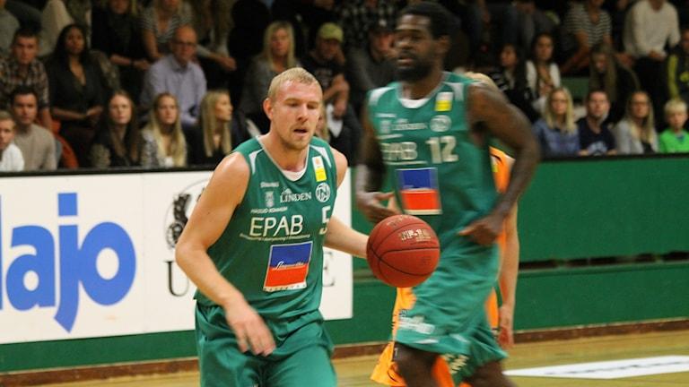 Mathias Liljeqvist i Nässjö basket. Arkivbild, foto: Tommy Haag/Sveriges Radio.
