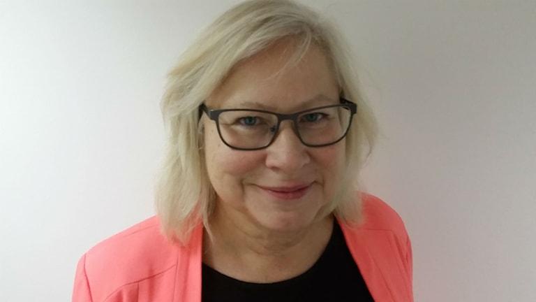 Eva Stråth, lokalavdelningsordförande för KD i Jönköping. Foto: Therese Edin/Sveriges Radio.