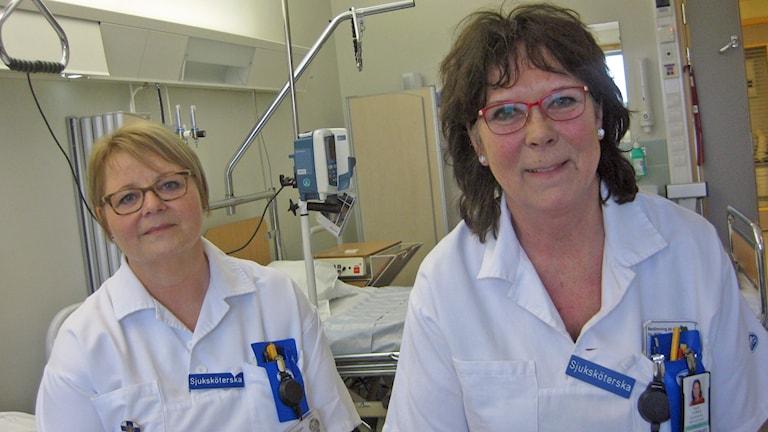 Susanne Höglund och Inger Lindberg. Foto: Peter Jernberg/Sveriges Radio
