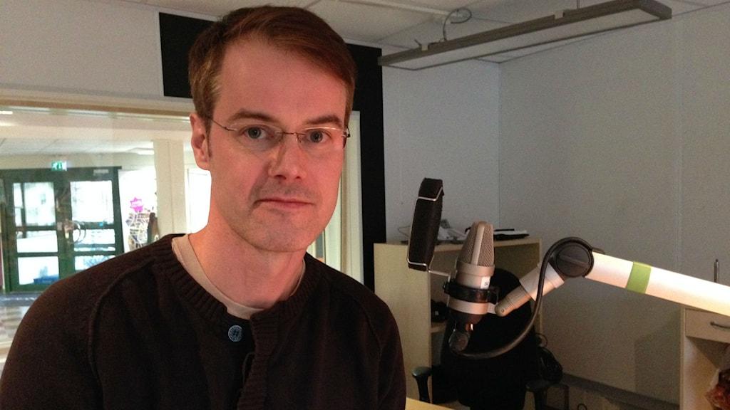 Marco Nilsson, universitetslektor på Högskolan i Jönköping. Foto: Sanna Hermansson/Sveriges Radio.