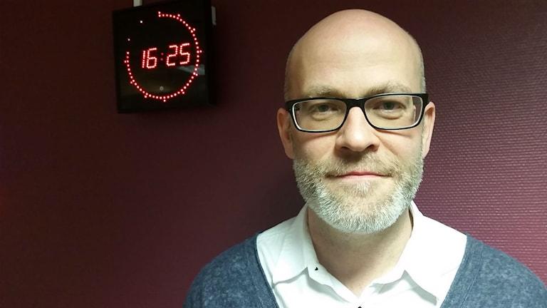 Simon Rundqvist. Foto: Therese Edin/Sveriges Radio.