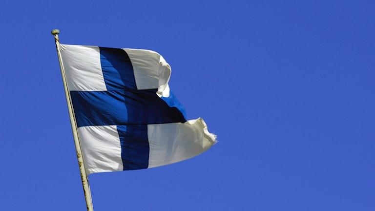 Finska flaggan. Foto: Hasse Holmberg/TT.