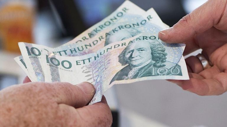 Pengar. Foto: Fredrik Sandberg/TT.