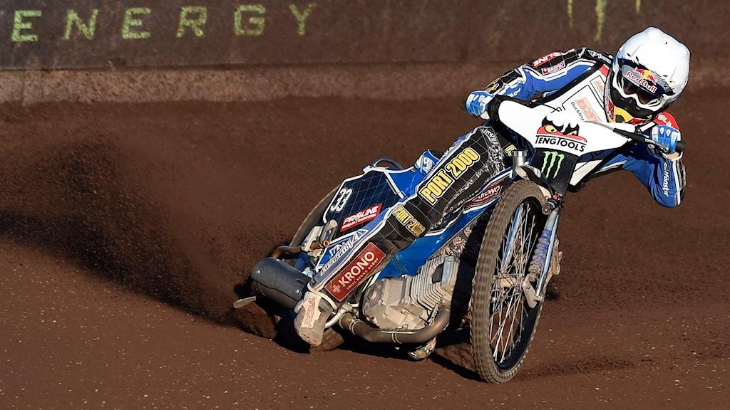 Speedwayföraren Jaroslaw Hampel. Foto: Mikael Fritzon/TT.