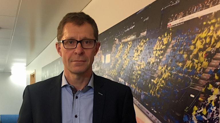 Agne Bengtsson, tf klubbdirektör HV71. Foto: Håkan Eng/Sveriges Radio