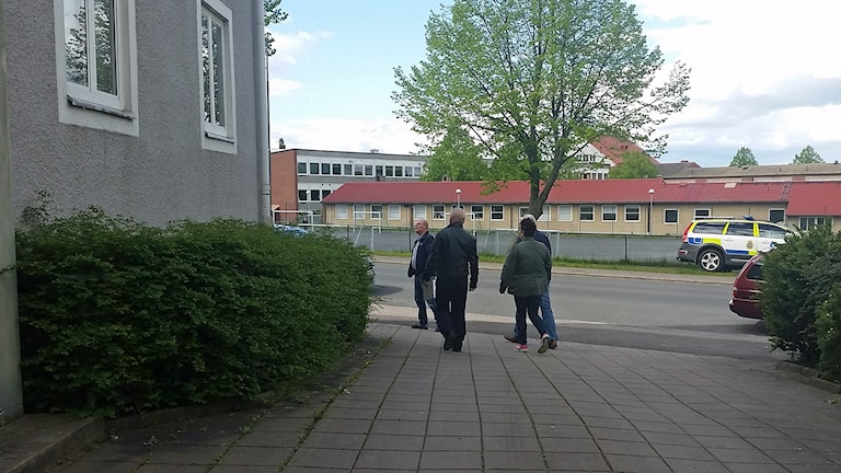 Polisens grova brottgrupp. Foto: Therese Edin/Sveriges Radio