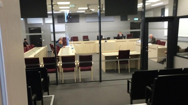 Häktningsförhandling. Foto: Rebecka Montelius/Sveriges Radio