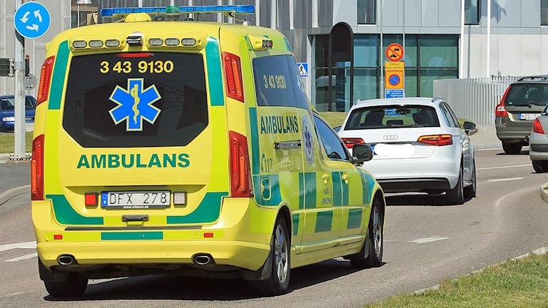 Ambulans. Foto: David Westh/Sveriges Radio