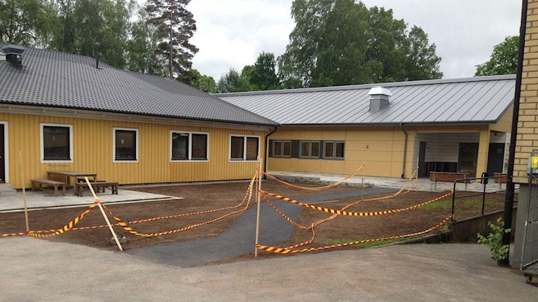 Nybyggda HVB-hemmet Bron Värnamo. Foto: Karin Malmsten/Sveriges Radio.