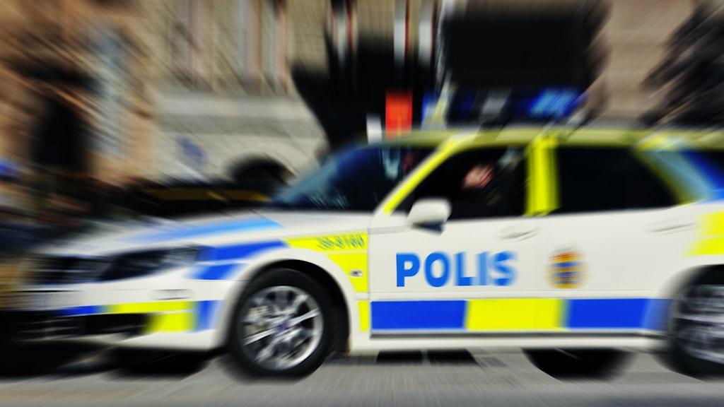 Polisbil. Foto: Hasse Holmberg / TT