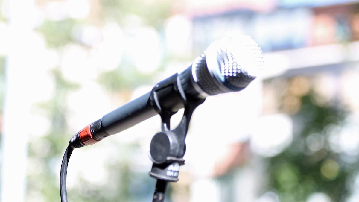 Mikrofon. Foto: David Westh/Sveriges Radio