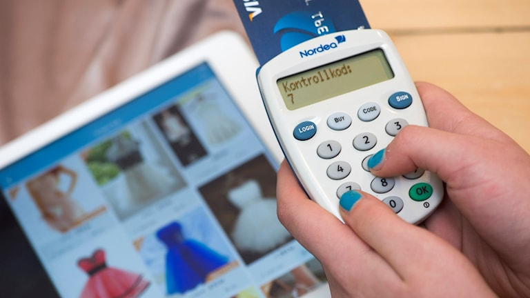Handlar över internet. Foto: Fredrik Sandberg/TT